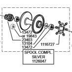 ●アブガルシア アンバサダー6500CL(1014212)用 純正標準スプール (パーツID1126047) 【キャンセル及び返品不可商品】