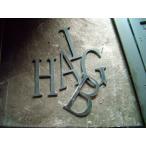 アルファベット加工文字用パーツ【デザインカットアイアン・在庫】H65mm【DIY・看板パーツなど】