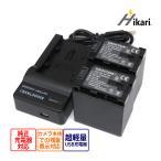 VictorJVC BN-VG138 バッテリー2個&USB充電器AA-VG1 3点セット  プラグなし互換バッテリージャパネットたかたエブリオ GZ-E117 Everioカメラ用