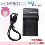 SONY  NP-BG1/DSC-HX10V/DSC-HX30V/HDR-GW77V/DSC-T100/DSC-T20対応 互換急速USB充電器