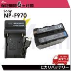 Sony 多機種対応NP-F970/NP-F960 大容量7300mah 対応残量表示可能・完全互換バッテリーと対応充電器USBチャージャーBC-VM10のセット