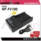 SONY NP-FV100/NP-FV70/NP-FV60/NP-FV50/NP-FH100/NP-FH70/NP-FH60 対応互換充電器USBチャージャー