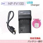 ソニー SONY NP-FV100対応互換充電器USBチャージャー HDR-CX430V/HDR-CX630V/HDR-PJ210 HDR-TD20V/HDR-CX720V