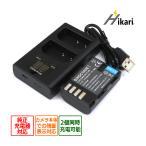 DMW-BLF19 Panasonic パナソニック 互換バッテリー 1個と 互換デュアルUSBチャージャー の2点セット 純正品にも対応 DMC-GH3 / DMC-GH4 / DC-GH5 / DC-G9