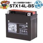 バイク用バッテリー 65958-04互換 コスパ最強「3点セット割引」 液入充電済+廃棄バッテリー無料回収+車両ケーブル (65958-04A 65984-00互換) STX14L-BS 在庫有り