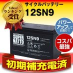 12SN9 初期補充電済 純正品と完全互換 安心の動作確認済み製品 USPバッテリーキットに対応 安心保証付き 在庫あり・即納