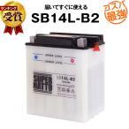 バイク用バッテリー SB14L-B2(開放型) YB14-B2互換 コスパ最強 総販売数100万個突破 GM14Z-3B FB14L-B2に互換 100%交換保証 スーパーナット バイクバッテリー