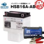 ショッピングバッテリー バイクバッテリー充電器+HSB16A-ABセット (HYB16A-ABに互換) ボルティクス・スーパーナット 送料無料 特別割引
