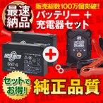 Yahoo!バッテリーストア.com充電器 + SN7-6 バッテリー2個 お得な3点セット 純正品完全互換 安心の動作確認済み製品 RE7-6 PE6V7.2 PXL06090 LC-R067R2PG1 LC-R067R2J1対応 スーパーナット