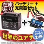 Yahoo!バッテリーストア.comバイク用バッテリー YTX12-BS お得2点セット バッテリー+充電器 台湾ユアサ(YUASA) 長寿命・保証書付