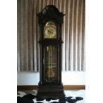 最高級 ホールクロック ダークウォールナットカラー ドイツ製ムーブメント オークソリッド材 彫刻 完成品 柱時計 大型置き時計 置時計 振り子 機械式 0313dwa2