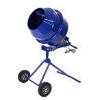 コンクリートミキサー 青 練上量70L ドラム容量140L 固定ボルト加工 電動 モーター式 100V ブルー BLUE