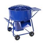 モルタルミキサー 青 混合量120L ドラム容量140L 物置き台付 電動 ミニミキサー ミニモルタルミキサー 電動ミキサー 混練ミキサー 混練機 攪拌機 mmixerdc40blue