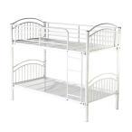 4カラーから選べる パイプ二段ベッド パイプ2段ベッド 二段ベッド 2段ベッド パイプベッド シングルベッド スチールベッド A