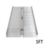 ショッピング解消 アルミスロープ スロープ長さ約152.5cm 幅約72.5cm 耐荷重約270kg 工事不要 完成品 組立不要 介護用品 脱輪防止 スロープ 車椅子用 車イス用 車いす用