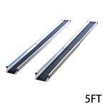 伸縮アルミスロープ スロープ長さ約152.5cm 幅約15.5cm 耐荷重約270kg 2本セット 持ち運び可能 完成品 収納ケース付 介護用品 脱輪防止 車椅子用 車イス用 5FT