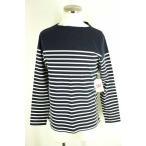無印良品 MUJI ボートネックTシャツ メンズ サイズJPN:L バスクシャツ 中古 ブランド古着バズストア 220418