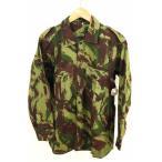 ショッピングused ユーズドフルギ USED古着 ミリタリーシャツ メンズ サイズ2 ポルトガル軍リザードカモヘリンボーンフィールドシャツ 中古 ブランド古着バズストア