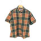 インディビジュアライズドシャツ INDIVIDUALIZED SHIRTS BD半袖シャツ メンズ 15 中古 ブランド古着バズストア 200702