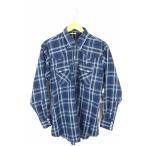 ショッピングused ユーズドフルギ USED古着 ウエスタンシャツ メンズ サイズ16-33 オーバーサイズウエスタンチェックシャツ 中古 ブランド古着バズストア 061