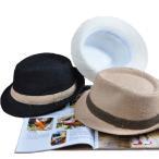 ショッピングストロー 麦わら帽子 英字プリント ストローハット 中折れハット UVカット リボン 日よけ帽子 メンズ レディース 夏 cap 6520
