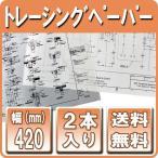 製図用紙 インクジェットロール紙  トレーシングペーパー 420mm×50m 2本 (A2ロール紙 図面用紙)