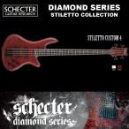 シェクター SCHECTER ベース / STILETTO CUSTOM 4 | AD-SL-CTM-4 スティレットカスタム4 4弦ベース レッド(赤) ダイヤモンドシリーズ 2016年モデル 送料無料