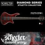 シェクター SCHECTER ベース / STILETTO CUSTOM 5   AD-SL-CTM-5 スティレットカスタム5 5弦ベース レッド(赤) ダイヤモンドシリーズ 2016年モデル 送料無料