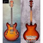 Landscape SA-101 ランドスケープ SA101   セミアコジャズギター(335スタイル)、ハードケース付属 正規品 送料無料