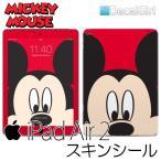 DecalGirl ディズニー ミッキーマウス iPad air2専用スキンシール/ミッキーフェイス/ アップル キッズ デカール ステッカー シール iPadケース ipadカバー
