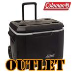 /アウトレット/コールマン エクストリーム 5 ホイールクーラー/50QT 《ブラック》【容量約47L】Coleman キャスター付き クーラーボックス 保冷 大容量 大型