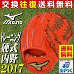 トレーニンググローブ 野球 ミズノ グローバルエリート 硬式野球用 内野手用2 右投げ用 2017年NEWモデル グラブ袋プレゼント