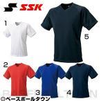 SSK VネックTシャツ ベースボールシャツ 野球 練習 トレーニング BT2260 野球ウェア 取寄 メール便可