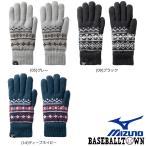 ミズノ ブレスサーモふわもこ手袋 メンズ C2JY9634 手袋 グラブ メール便可