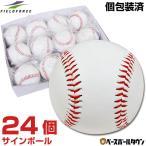 ショッピング出場記念 野球用 サインボール 硬式球デザイン 24個売り 個包装済み FSB-0905 フィールドフォース