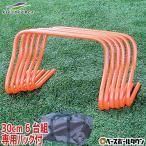 ミニハードル Mサイズ 30cm×6台組 専用バッグ付 野球 サッカー フットサル FMH-600 フィールドフォース ラッピング不可 あすつく