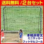 最大10%OFFクーポン ミニサッカー・フットサルゴール2set(152×112cm) ネット・ペグ・ハンマー・専用BAG付 サッカー館 ラッピング不可