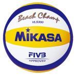 ビーチバレーボール ミカサ 国際公認球 白 黄/青 VLS300