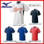 ミズノ 野球 マルチベースボールシャツ ジュニア用 ハーフボタン 小衿タイプ 少年用 取寄 52LJ20100 52LJ20900 52LJ21400 52LJ21600 52LJ26200
