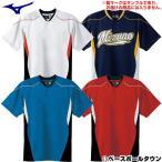 ミズノ ジュニア用ベースボールシャツ 野球 ハーフボタン・小衿タイプ 52MJ452 取寄 少年用