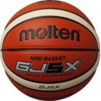 モルテン ミニバスケットボール GJ5X 5号 検定球 オレンジ×アイボリー BGJ5Xメンズ