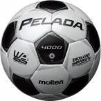 5%OFFクーポン 名入れ可(有料)モルテン サッカーボール ペレーダ4000 4号球 シャンパンシルバー×メタリックブラック F4P4000 サッカー館
