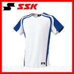 ショッピングSSK SSK 1ボタンプレゲームシャツ ホワイト×Dブルー BW0906-1063メンズ