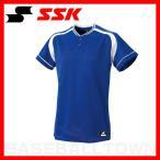 ショッピングSSK SSK 2ボタンプレゲームシャツ Dブルー×ホワイト BW2200-6310メンズ
