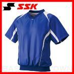 ショッピングSSK SSK プレジャン Vネック半袖 裏メッシュ Dブルー×ホワイト BWP1410H-6310 取寄メンズ