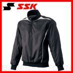 ショッピングSSK SSK プレジャン ハーフZIP長袖 裏メッシュ ブラック×ホワイト BWP1411-9010 取寄メンズ