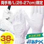 ネコポス可 SSK バッティンググローブ 両手 高校野球対応 シングルバンド手袋 ホワイト BG3000W-10 旧メール便可