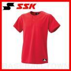 ショッピングSSK SSK 2ボタンベースボールシャツ 無地 レッド BW1460-20メンズ メール便可