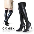 COMEX ブーツ ニーハイブーツ ハイヒール ポインテッドトゥ コメックス レディース 5378
