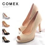 COMEX パンプス オープントゥ エナメル コメックス 5532